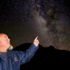 Stephen showing the Milkyway at Teide